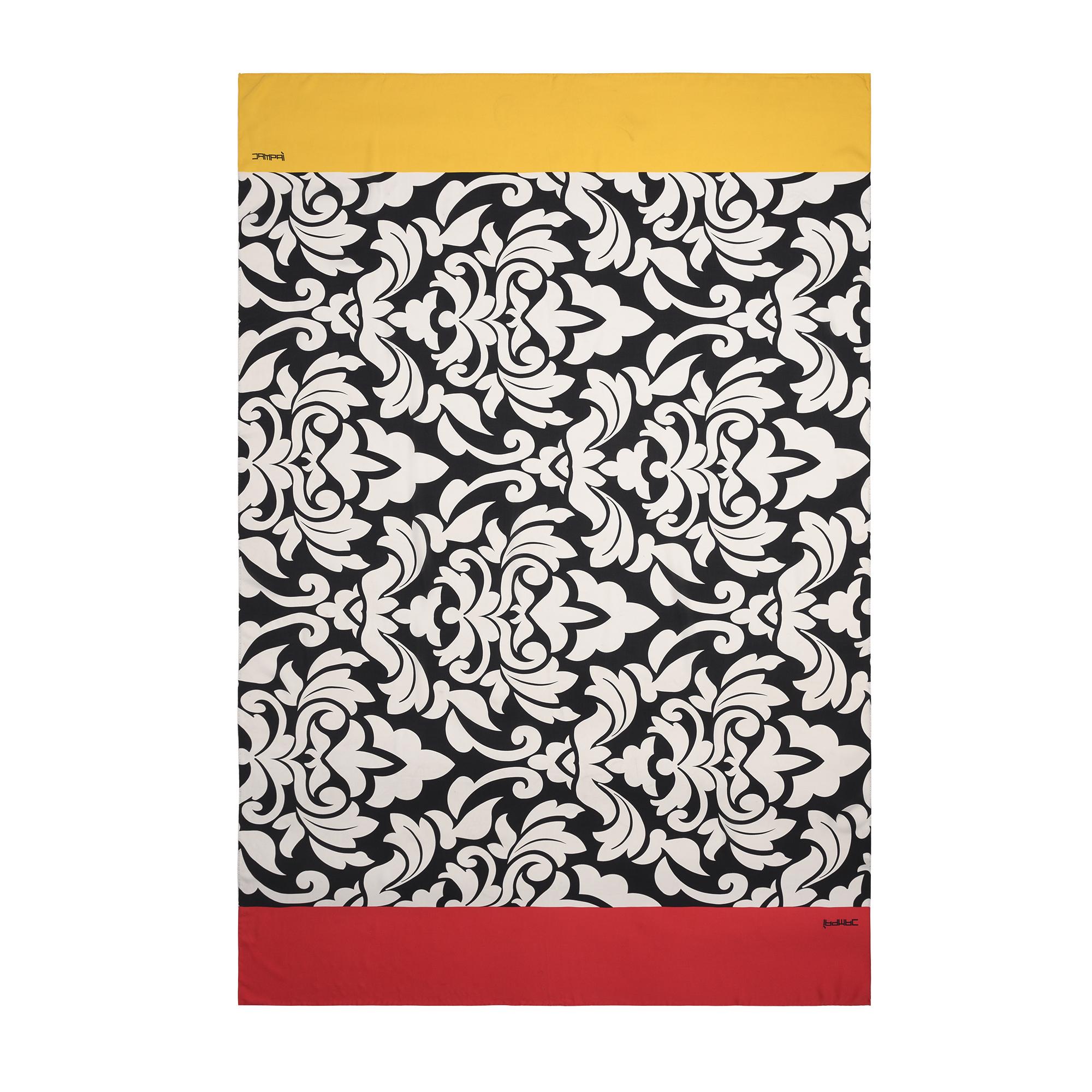 Foulard/Pareo in seta disegno damascato