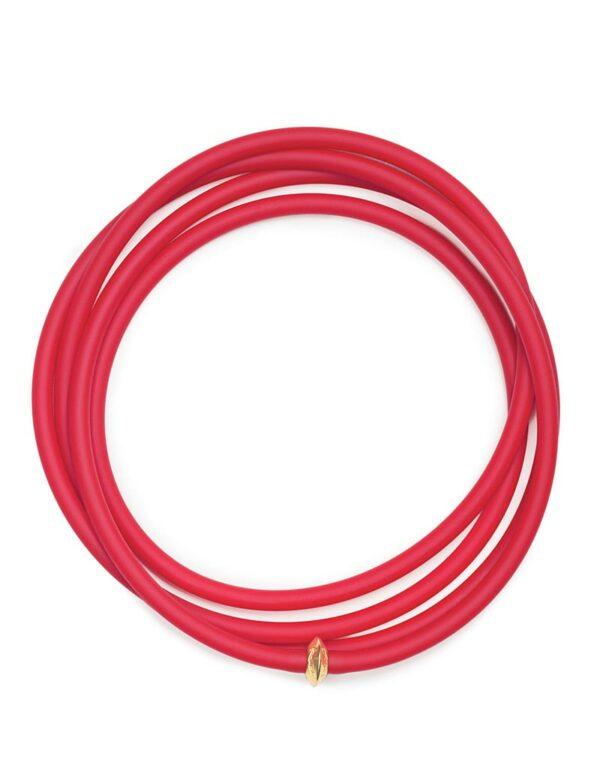 Collana La Lunga color rosso
