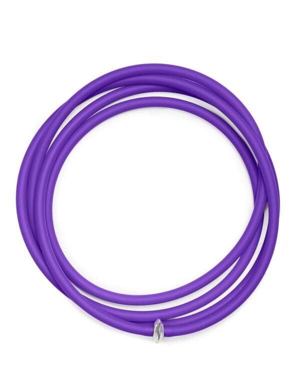 Collana La Lunga color viola