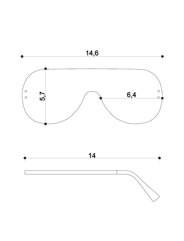 Misure occhiali Dampaì