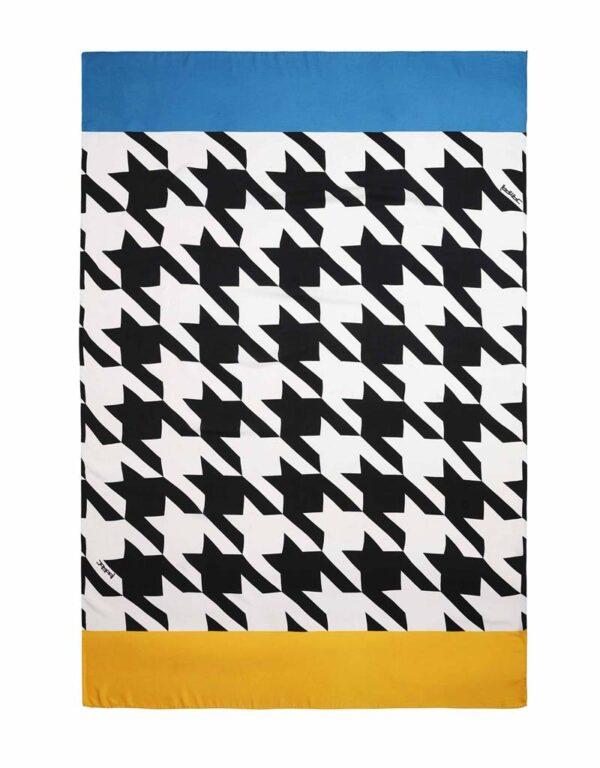 silk scraf pareo oundstooth pattern