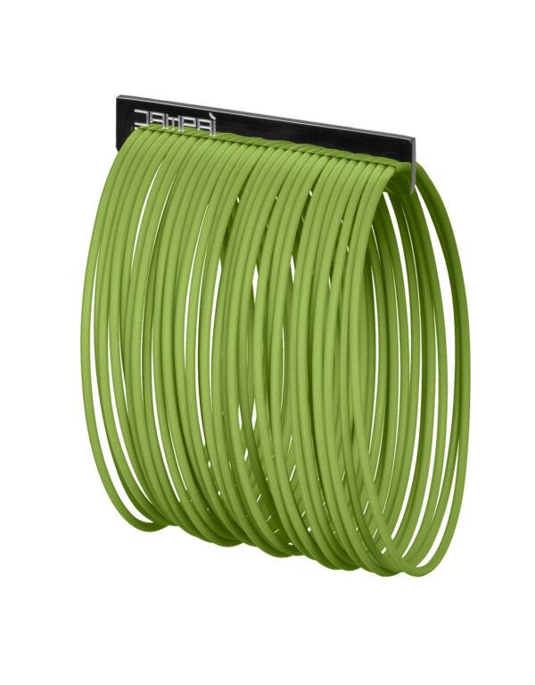 Braccialetti BERNARDINO in silicone colore verde con accessorio in acciaio Dampaì