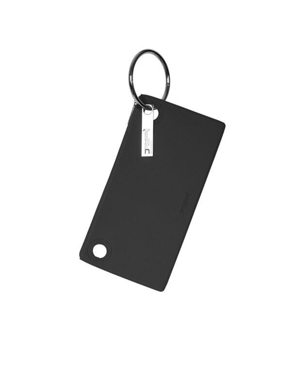 Borse in silicone Dampaì: pochette in colore nero con anello in metallo